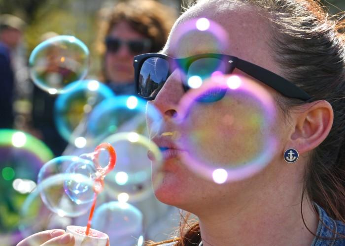 Seifenblasenflashmob